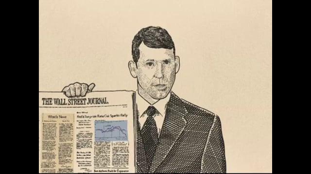 Wall Street Journal Stipple Guy