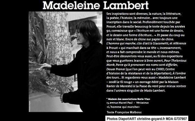 EXPOSITION MADELEINE LAMBERT