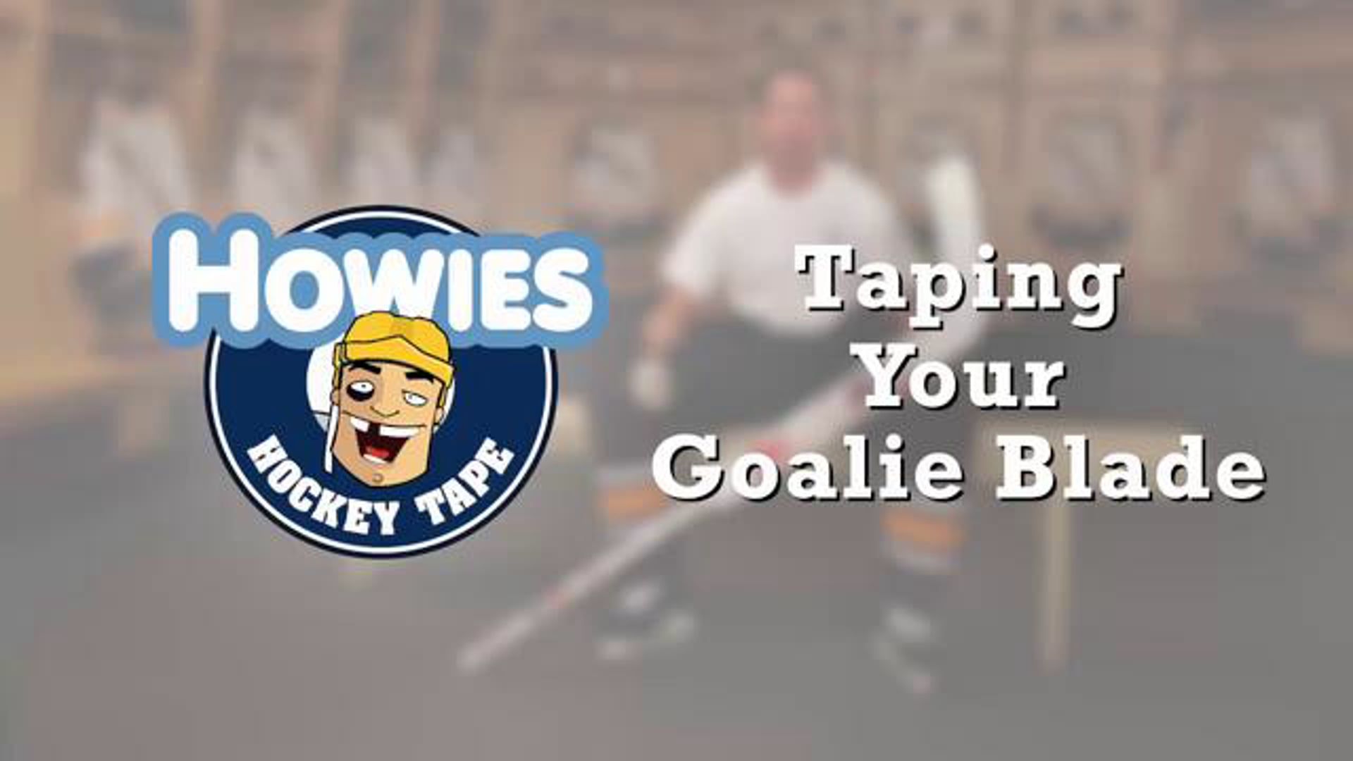 How to tape a Goalie stick