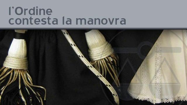 L'Ordine contesta la manovra - 21/9/2011