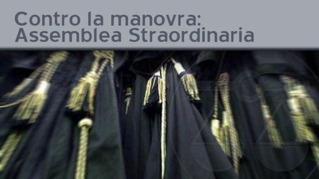 Contro la manovra: Assemblea Straordinaria - 12/10/2011
