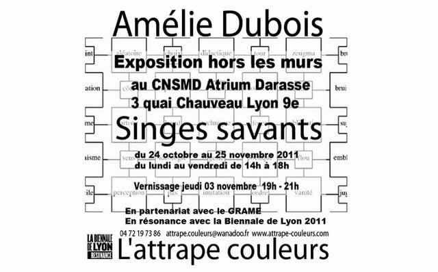 "AMELIE DUBOIS ""Singes savants""  au CNSMD"