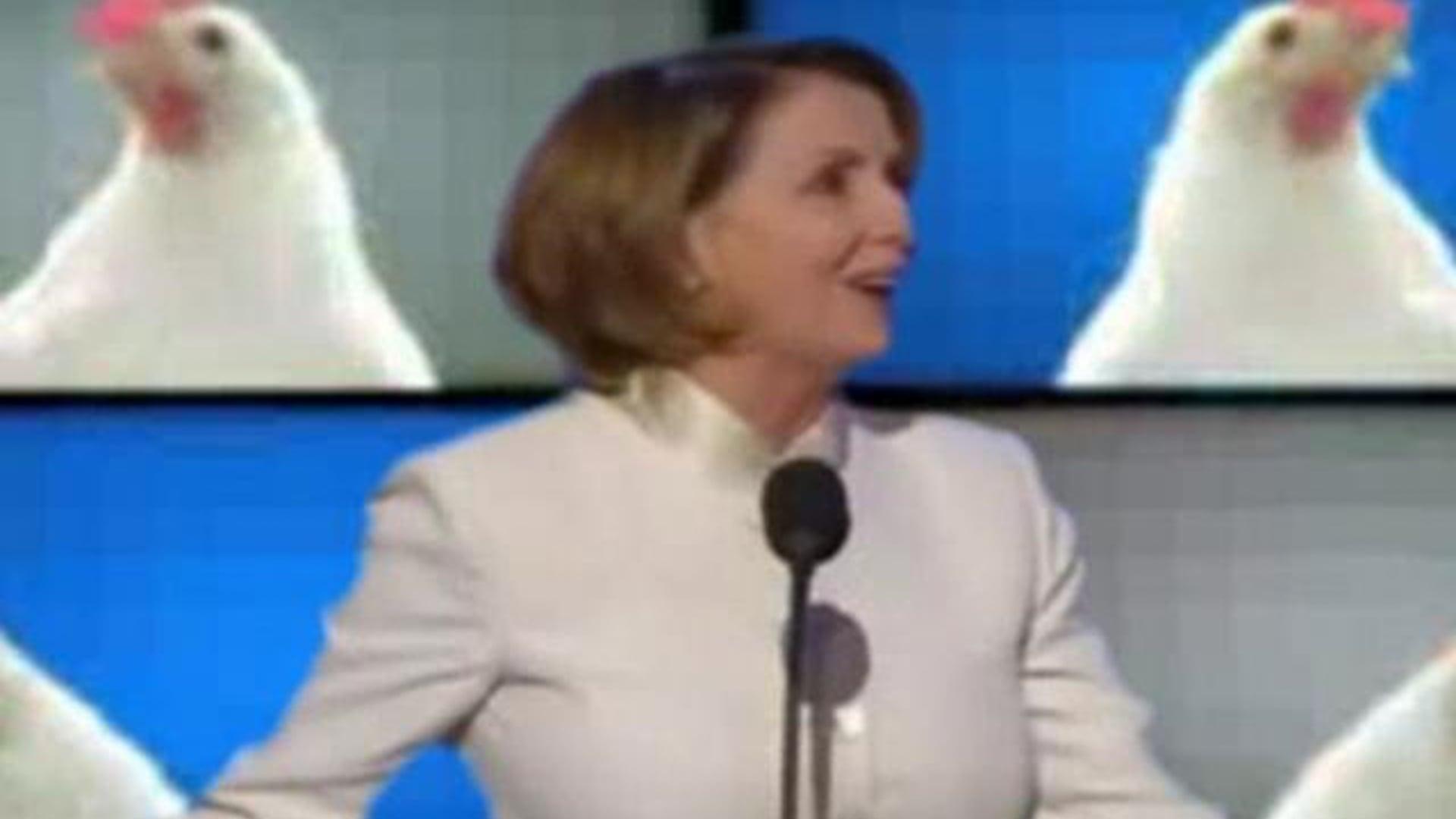 Nancy Pelosi Techno Chicken