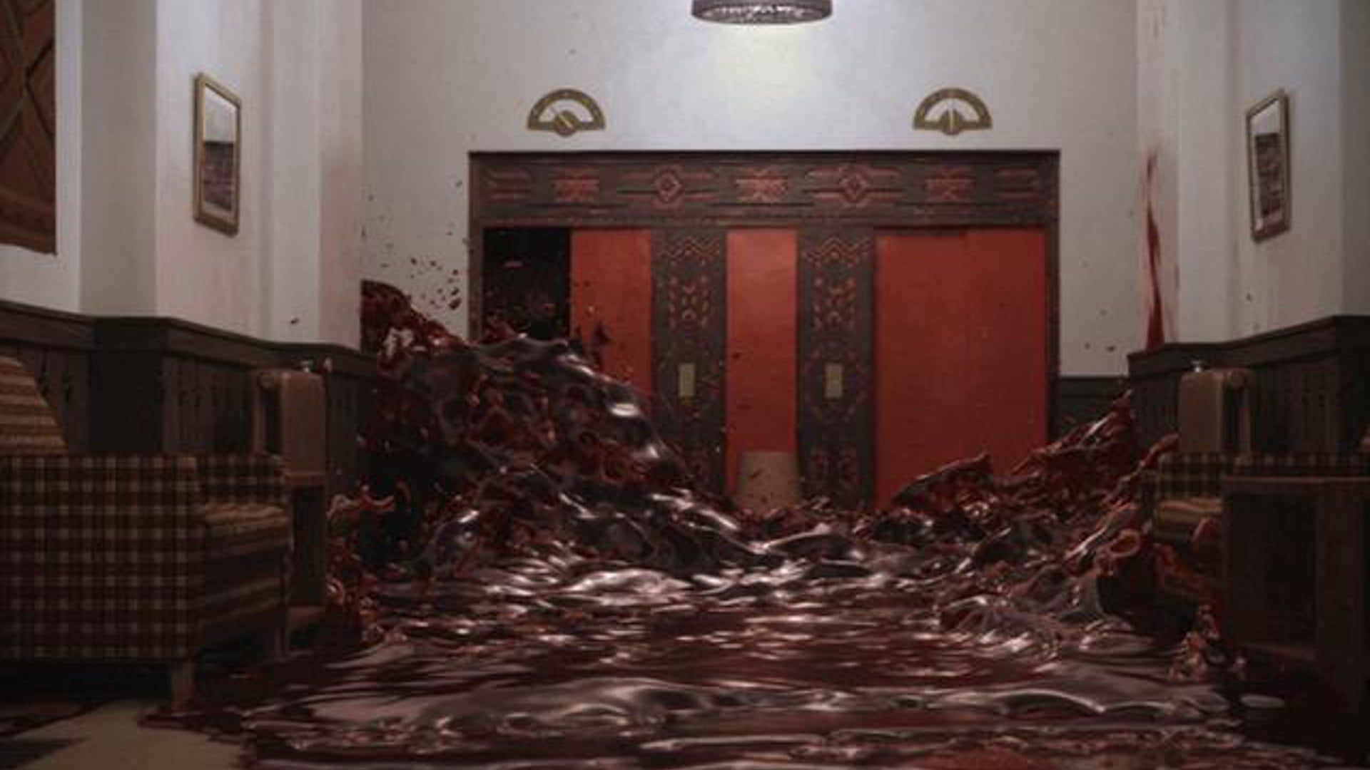 The Shining 'Blood Elevator' recreated with RealFlow & Lightwave