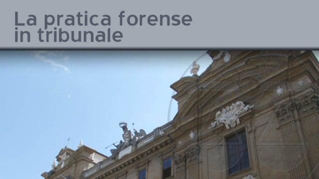 La pratica forense in tribunale - 22/11/2011