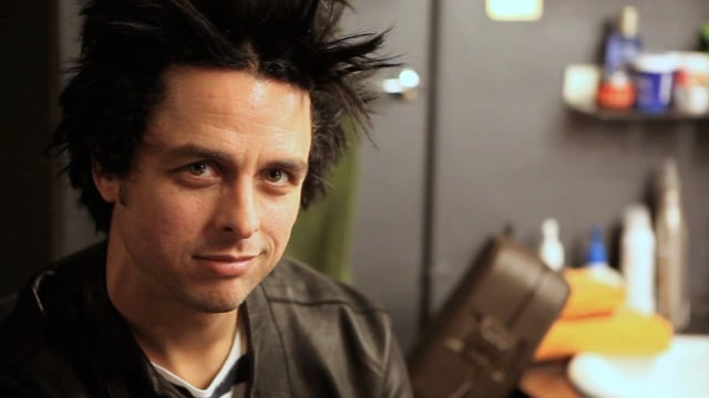 Backstage with Billie Joe Armstrong
