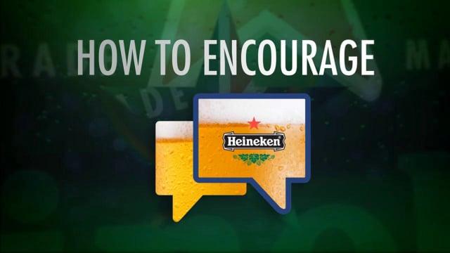 Awesome Animatie voor Heineken - Part of the Conversation