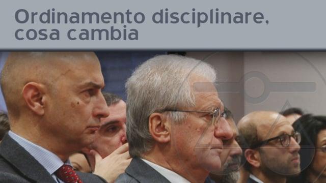 Ordinamento disciplinare, cosa cambia - 23/12/2011