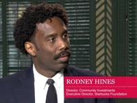 Mick McConnell in conversation with Rodney Hines about the role Starbucks wants to play in local communities.