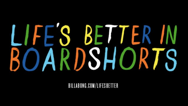 Life's Better in Boardshorts short film from Billabong