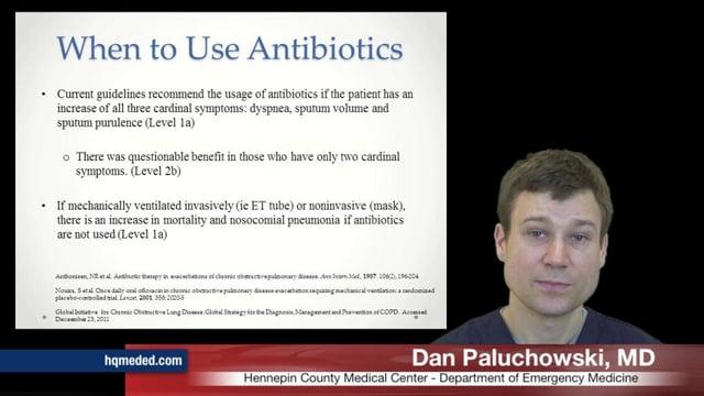 Antibiotics in COPD