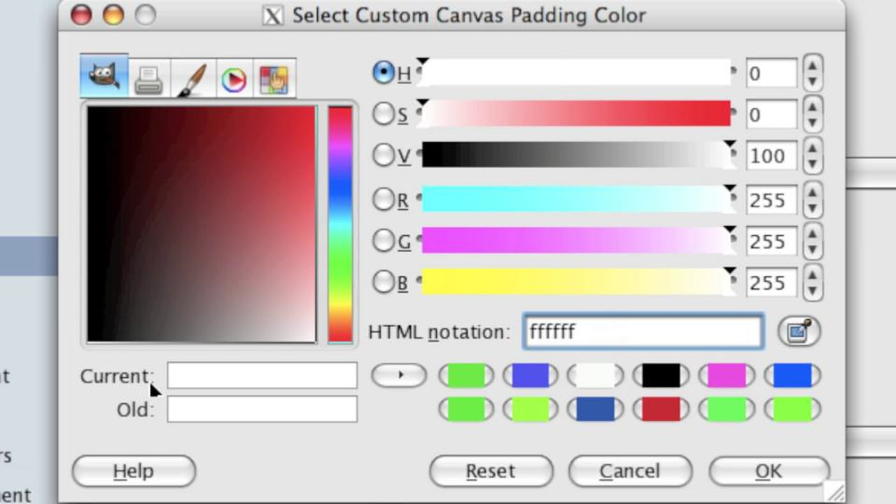 Choosing Colors in GIMP (Foreground and Background Colors, and Text)