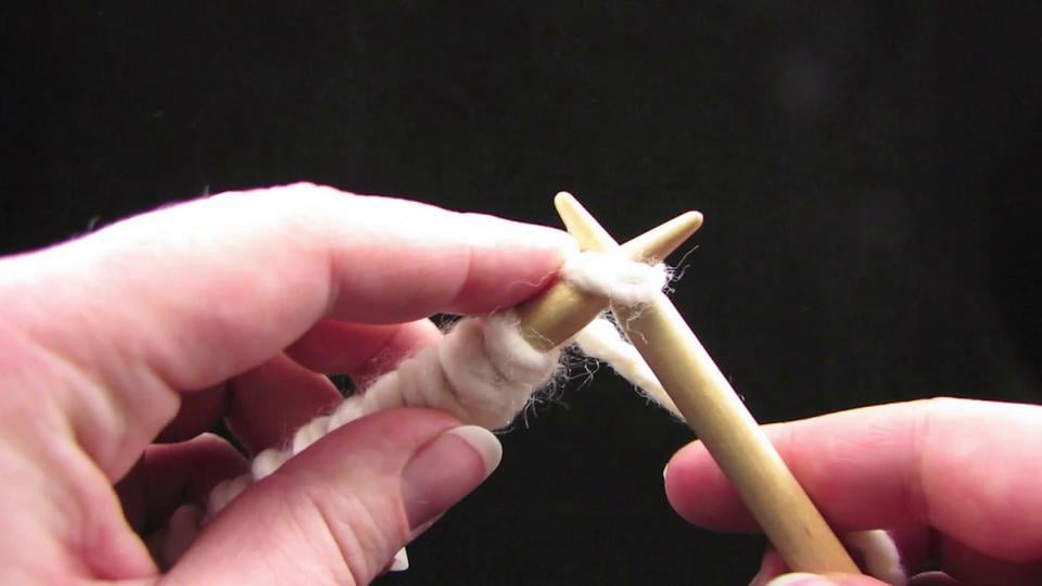 Learn to Knit Step 4 - The Knit Stitch