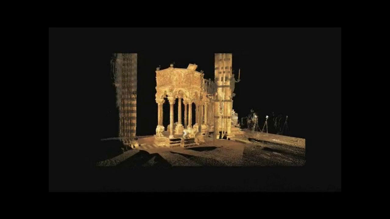 Rilievo Laser scanner del Pulpito di Nicola Pisano nel Duomo di Siena