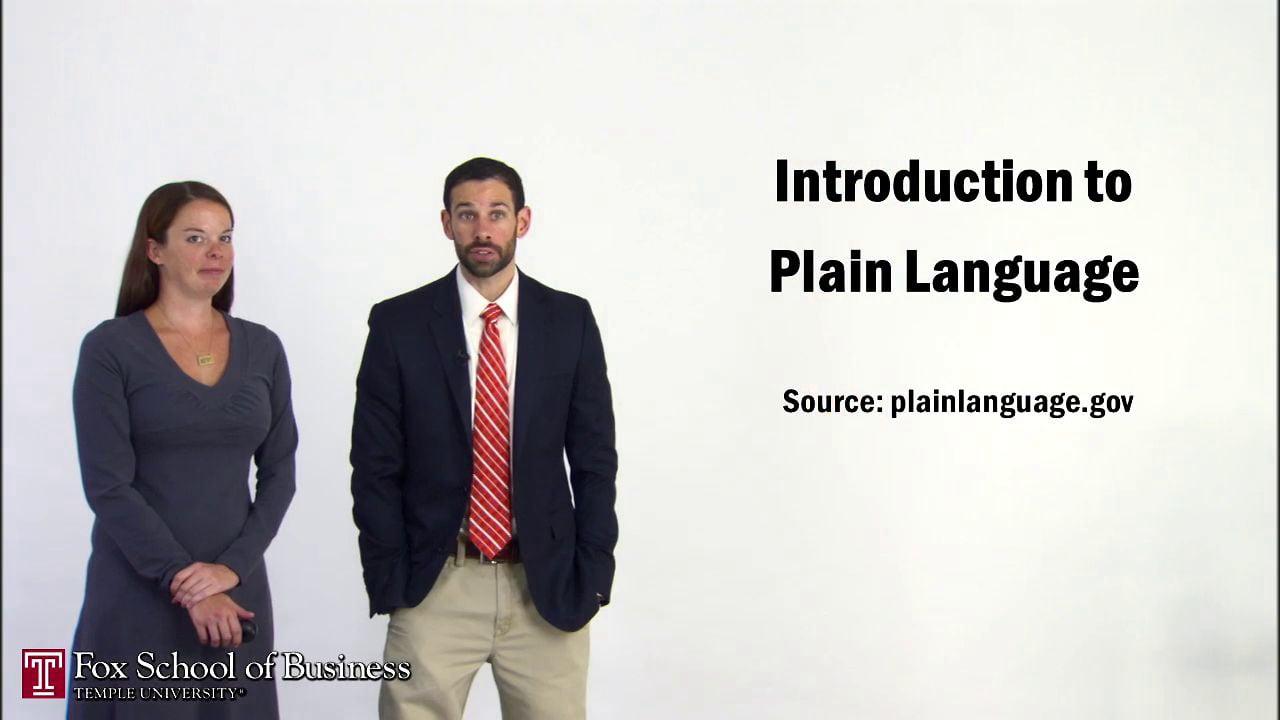 56921Introduction to Plain Language