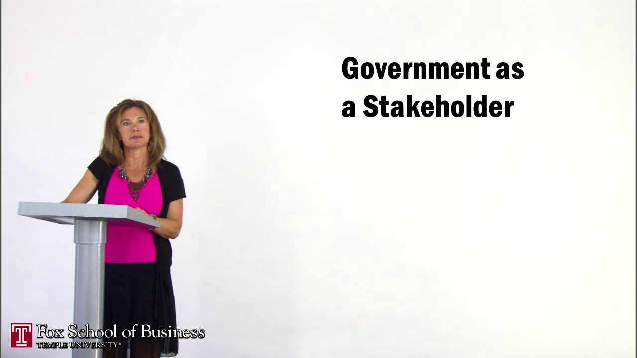 56947Government as a Stakeholder