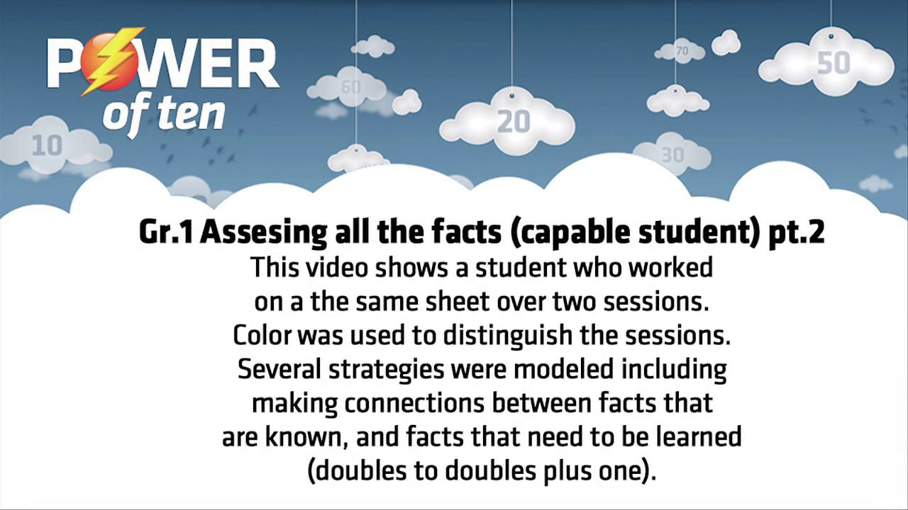 Grade 1: Assessing All The Facts Part  2