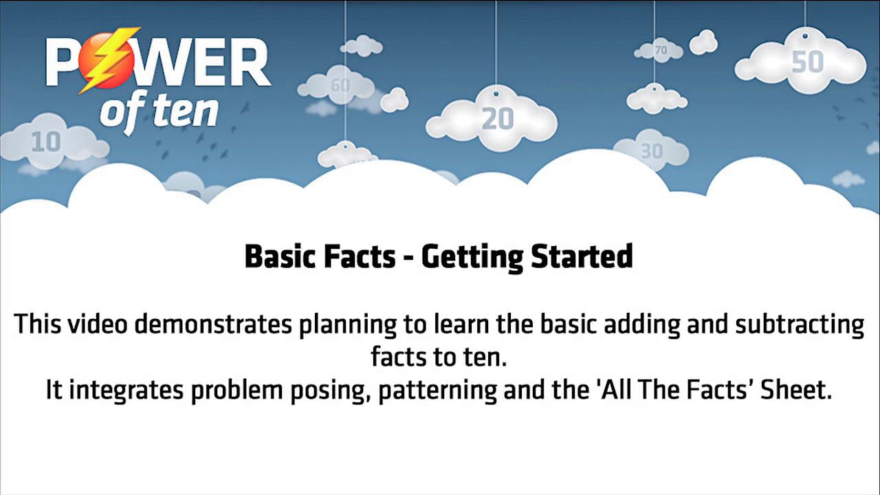 Basic Facts: Getting Started