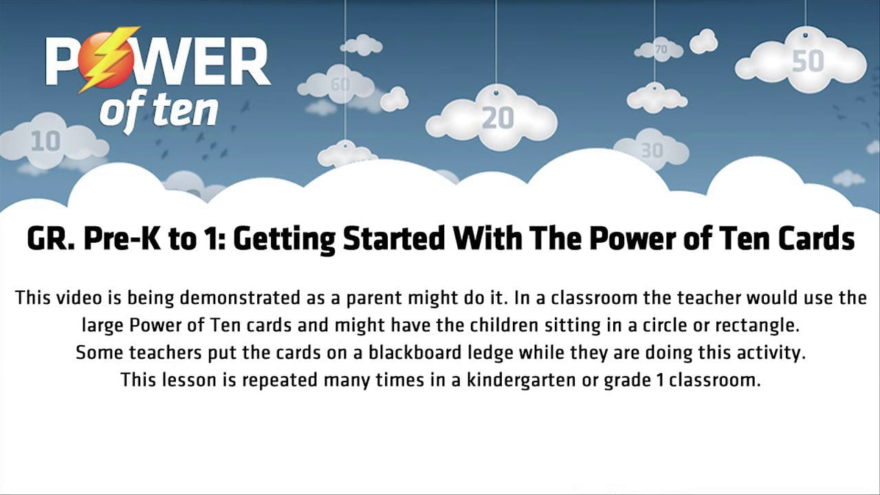 Grade Pre-K to 1: Getting Started