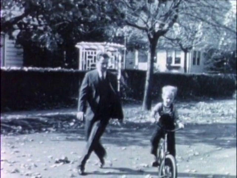 fall '37: david rides bike.