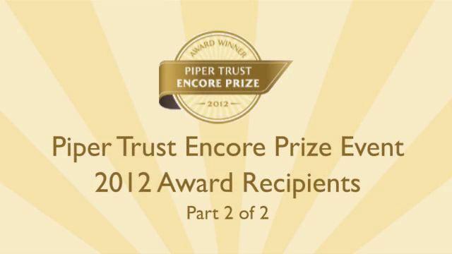 Encore Prize - 2012 Awardees