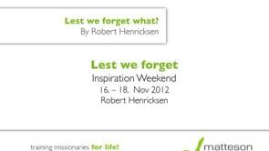 Inspiration Weekend 16. - 18. November 2012