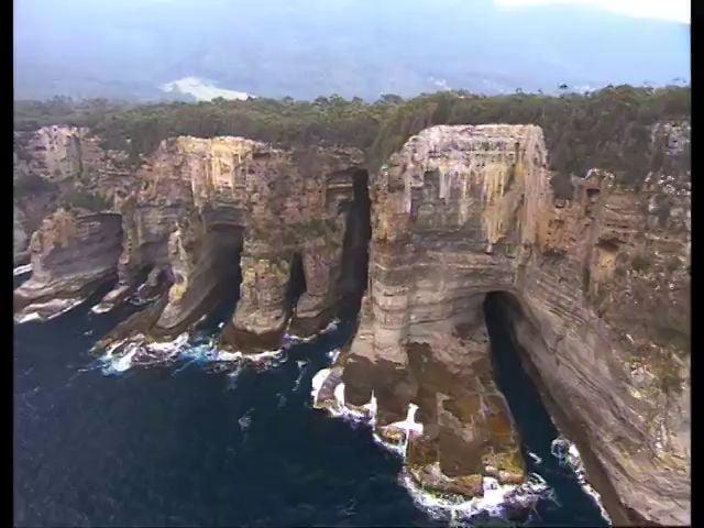 Tasmania. Sea cave dive. BBC Oceans.
