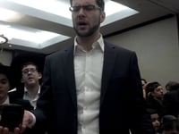 Havdalah at the 2013 Yeshiva of Waterbury Alumni Retreat