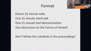 Haskell Symposium 2009