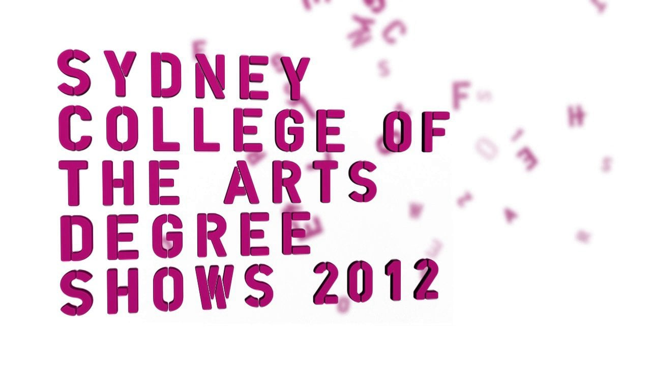 SCA Degree Show Title Card