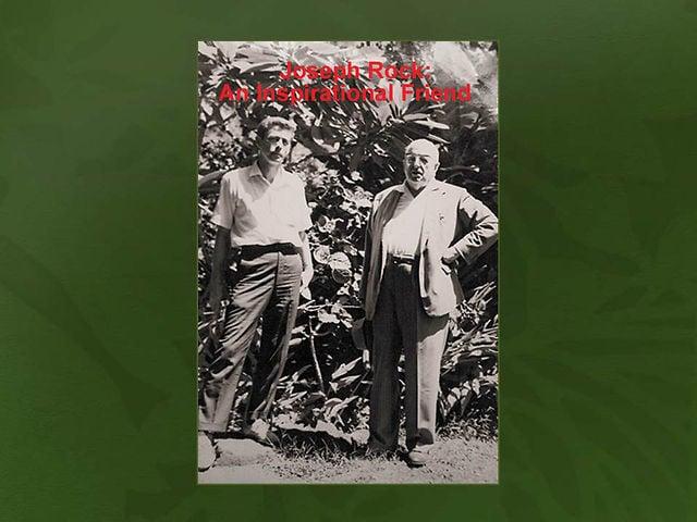 """2013_05. Dr. Paul Weissich   """"Joseph Rock: An Inspirational Friend"""""""