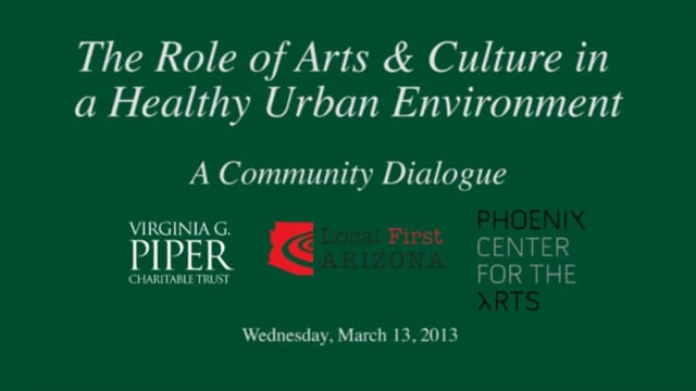The Role of Arts and Culture & Culture - Panel Discussion