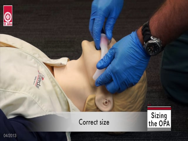 OPA measurement and insertion (VIDSKILL015)