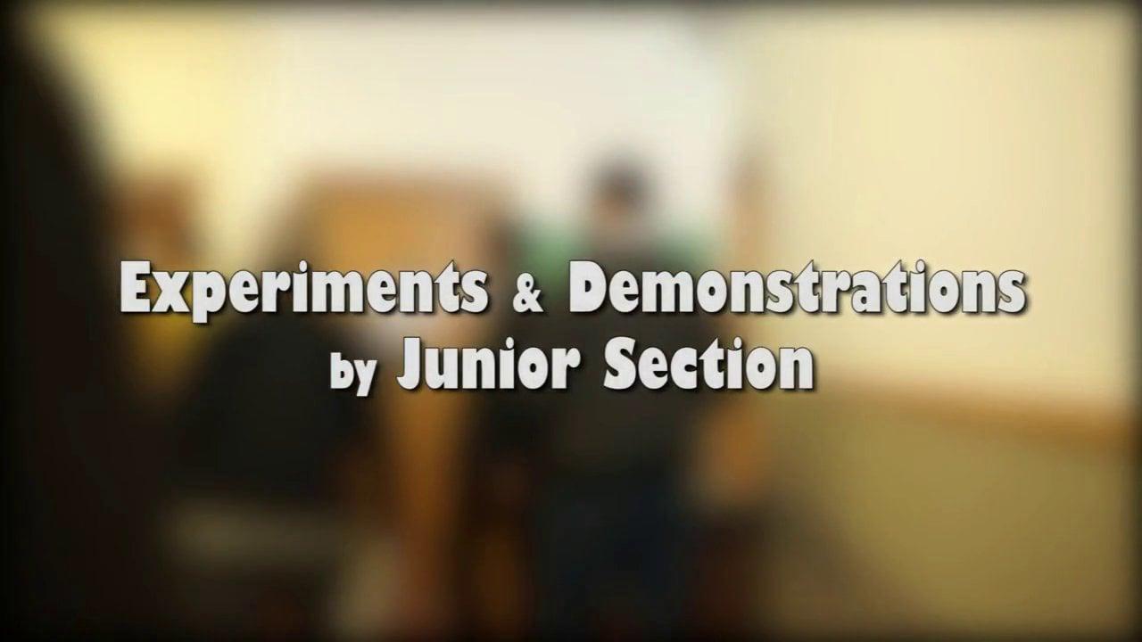 AIEx 2013- Junior Section Experiments & Demonstrations- part 1/2