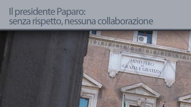 Il presidente Paparo: senza rispetto, nessuna collaborazione - 5/7/2013