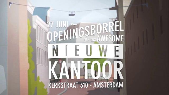 Uitnodiging openingsborrel Awesome Amsterdam