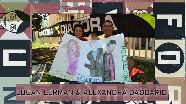 Welcome Logan Lerman & Alexandra Daddario