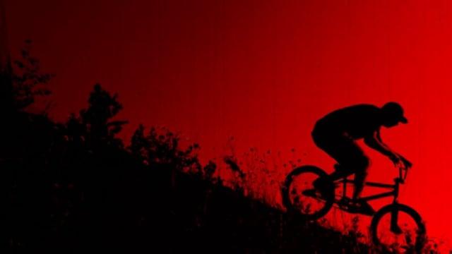 Young Cyclist Riding a BMX Bike