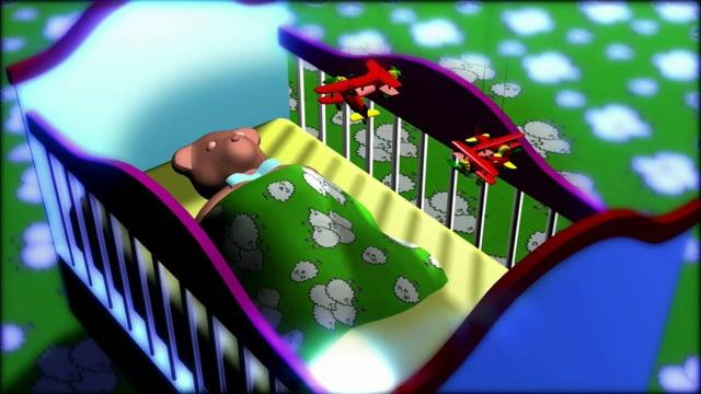 Teddy Bear in a Crib (Animation)