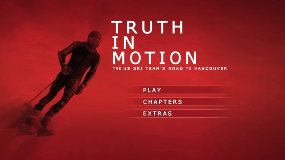 Truth in Motion - The US Ski Team's Road to Vancouver: Documentary DVD Menu Motion for Team Sponsor Audi