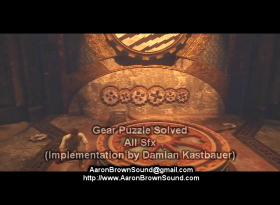 Demo Reel - Uncharted 3 - Sound design and Implementation - Aaron Brown