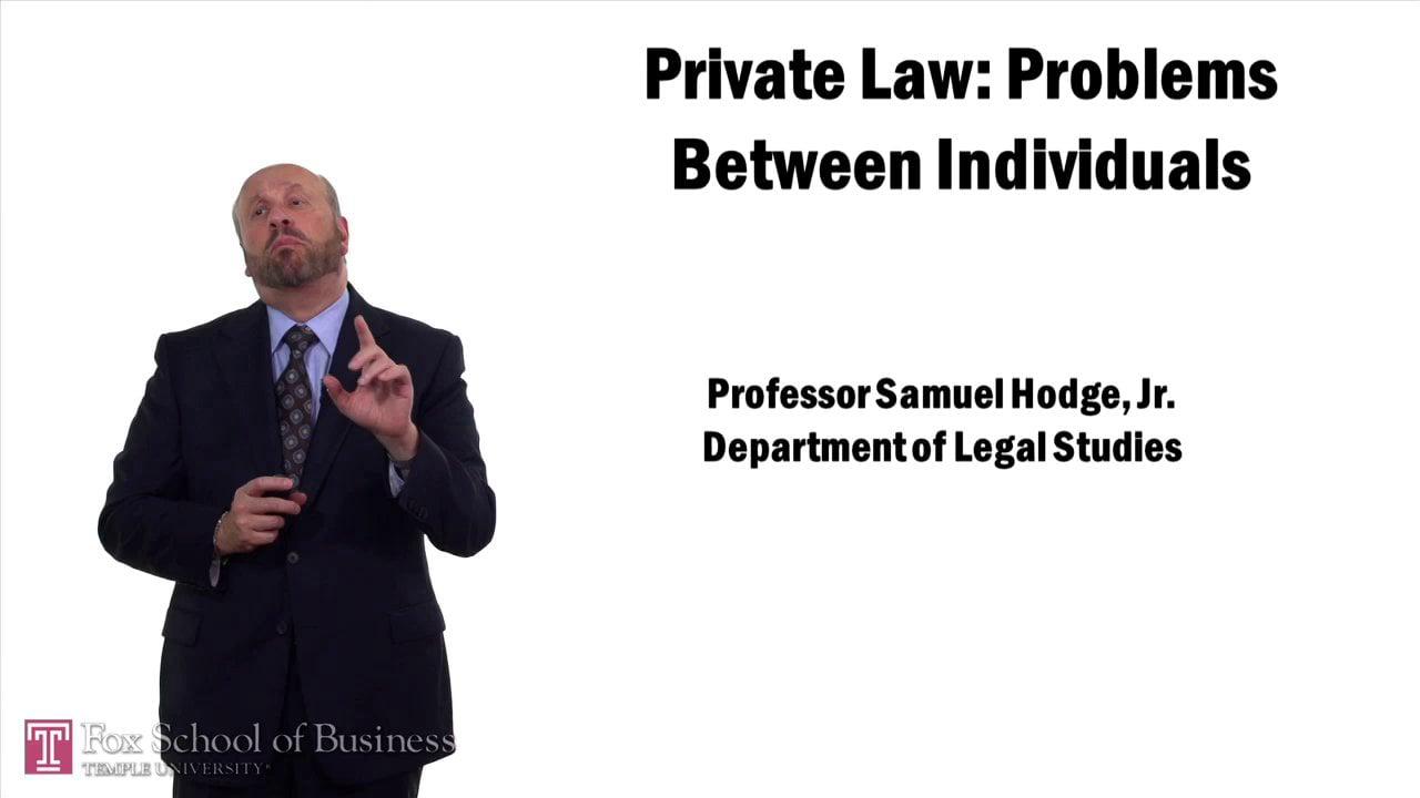 57583Public v Private Law: Private