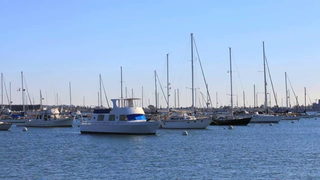Boats at Anchor in San Diego