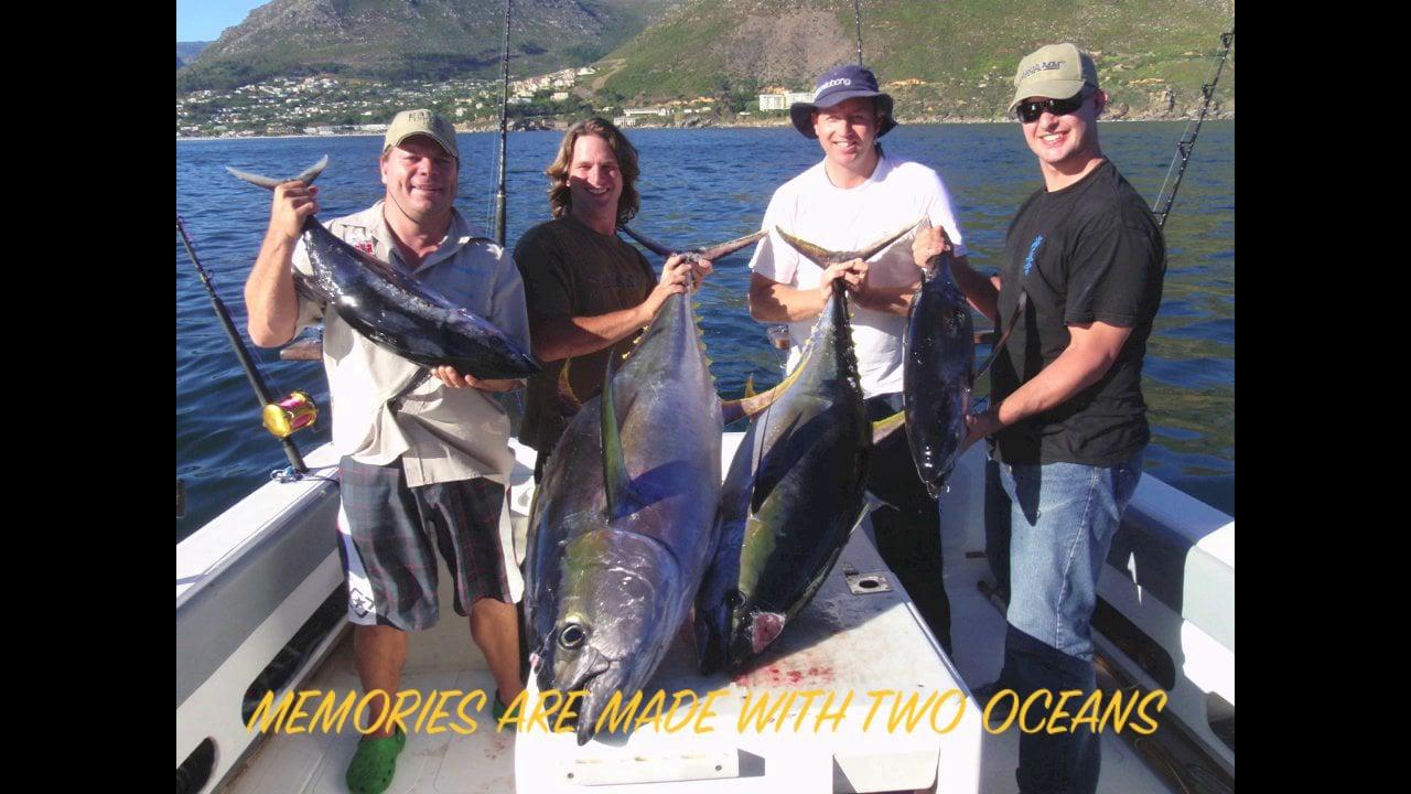 Offshore tuna fishing demo