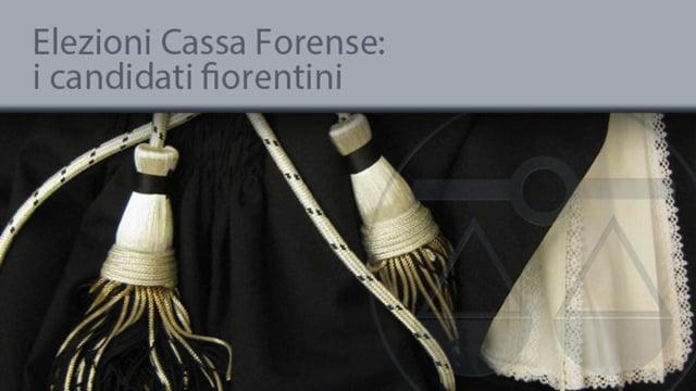 Elezioni Cassa Forense: i candidati fiorentini - 13/9/2013