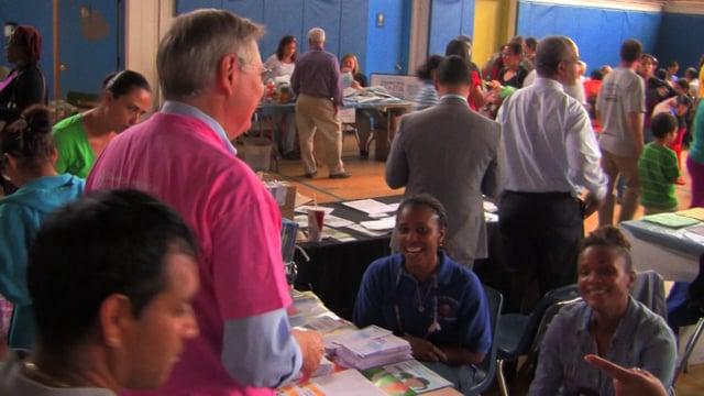Stamford Mayoral David Martin visits the Hispanic Advisory Council Health Fare