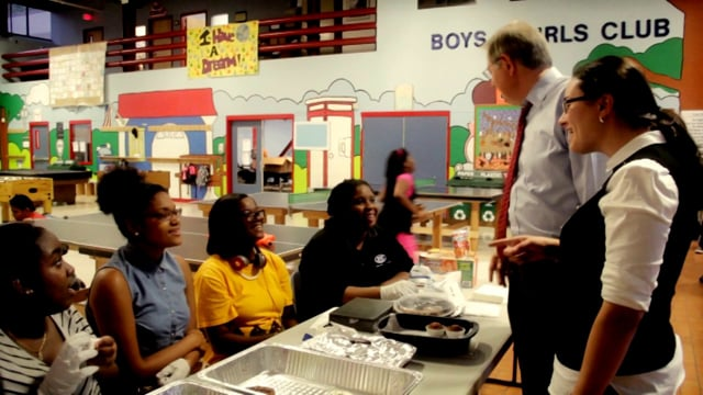 Stamford Mayoral Candidate David Martin visits the Boys and Girls Club