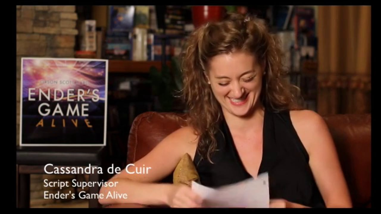 Cassandra - Script Supervisor Goddess on Ender's Game Alive