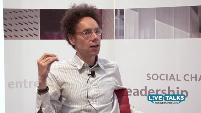 Malcolm Gladwell  at Live Talks Business Forum, in conversation with Virginia Postrel