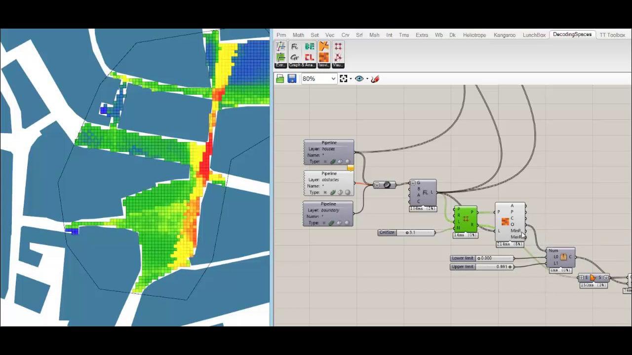 DecodingSpaces Grasshopper Components - Isovist field